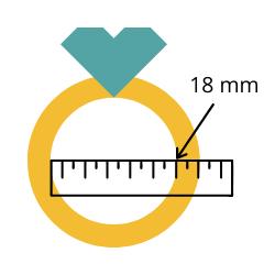 Voorbeeld meten ringmaat