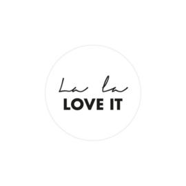 Sticker la la love it | set van 2