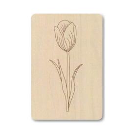 Houten kaart | tulp