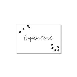 Mini-kaart | Gefeliciteerd