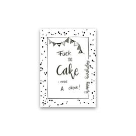 Kaart | Fuck the cake