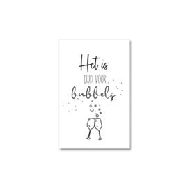 Mini-kaart | Tijd voor bubbels