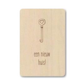 Houten kaart | sleutel