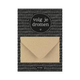 Geldkaart   Volg je dromen