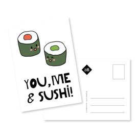 Kaart 'You, me & sushi!'