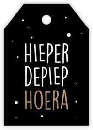Mini/kadokaartje 'Hieperdepiep Hoera'