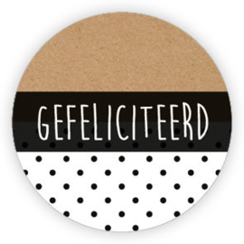 Sticker 'Gefeliciteerd' (10 stuks)