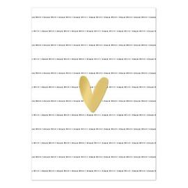 Kaart 'Goud hartje'