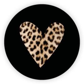 Sticker 'Cheetah hart' (10 stuks)