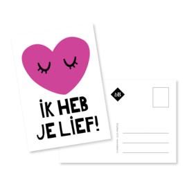 Kaart 'Ik heb je lief!'