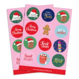 Stickervel 'Kerst'