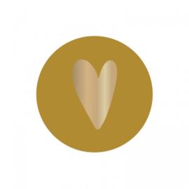 Sticker 'Hart oker geel' (10 stuks)