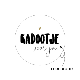 Sticker 'Kadootje voor jou' (10 stuks)