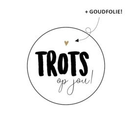 Sticker 'Trots op  jou!' (10 stuks)