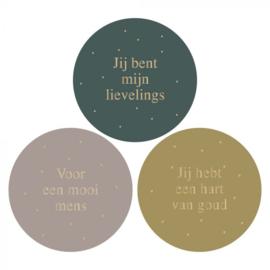 Sticker set '3 liefdevolle teksten'