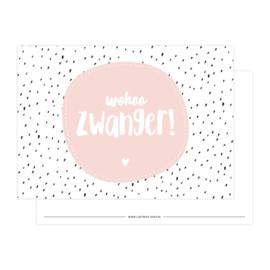 Kaart 'Wohoo Zwanger!'