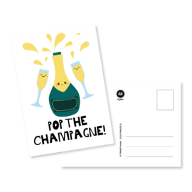 Kaart 'Pop the champagne!'