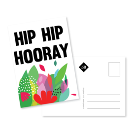 Kaart 'Hip hip hooray'
