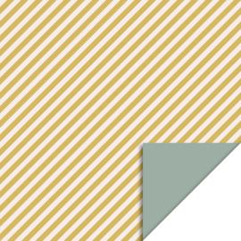 Cadeauzakje 'Streep geel' 12x19cm
