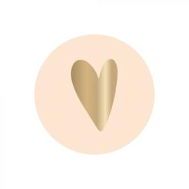 Sticker 'Hart ivoor' (10 stuks)