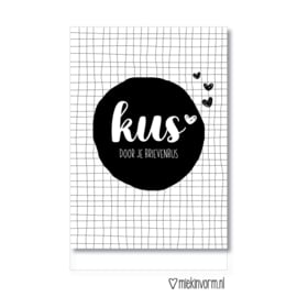 Kaart 'Kus door je brievenbus'