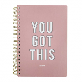 Notitieboek 'You got this'