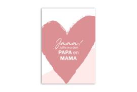 Kaart 'Jaaa! Jullie worden papa en mama'