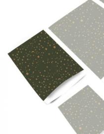 Cadeauzakje 'Galaxy goudfolie ' 12x19cm