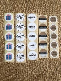 Sticker set 'Felicitatie XL'