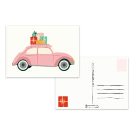 Kaart 'Kerst auto'