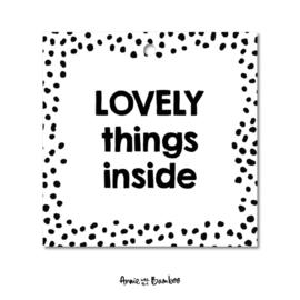 Mini/kadolabel 'Lovely things inside'