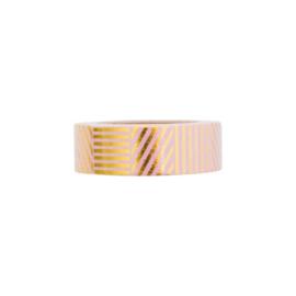 Washi tape 'Roze met goudfolie'