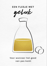 Kaart 'Een flesje met geluk'