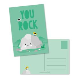 Kaart 'You rock'
