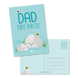 Kaart 'Dad you rock!'