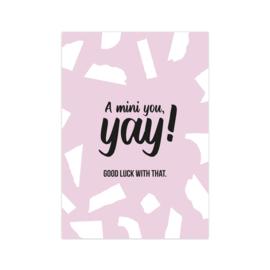 Kaart 'A mini you'