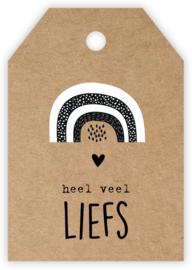 Mini/kadokaartje 'Heel veel liefs'