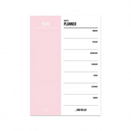Weekplanner 'Pink'