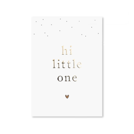 Kaart 'Hi little one'