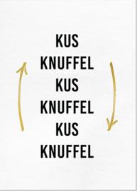 Kaart 'Kus knuffel'