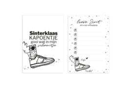 Kaart 'Verlanglijstje Sinterklaas'