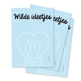 Notitieblok A6 'Wilde ideetjes'