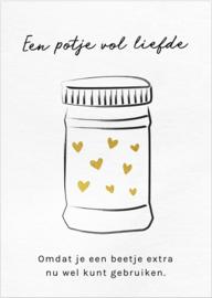 Kaart 'Een potje vol liefde'