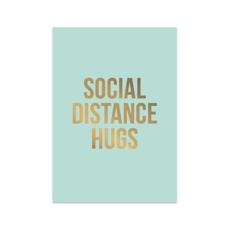 Kaart 'Social distance hugs'