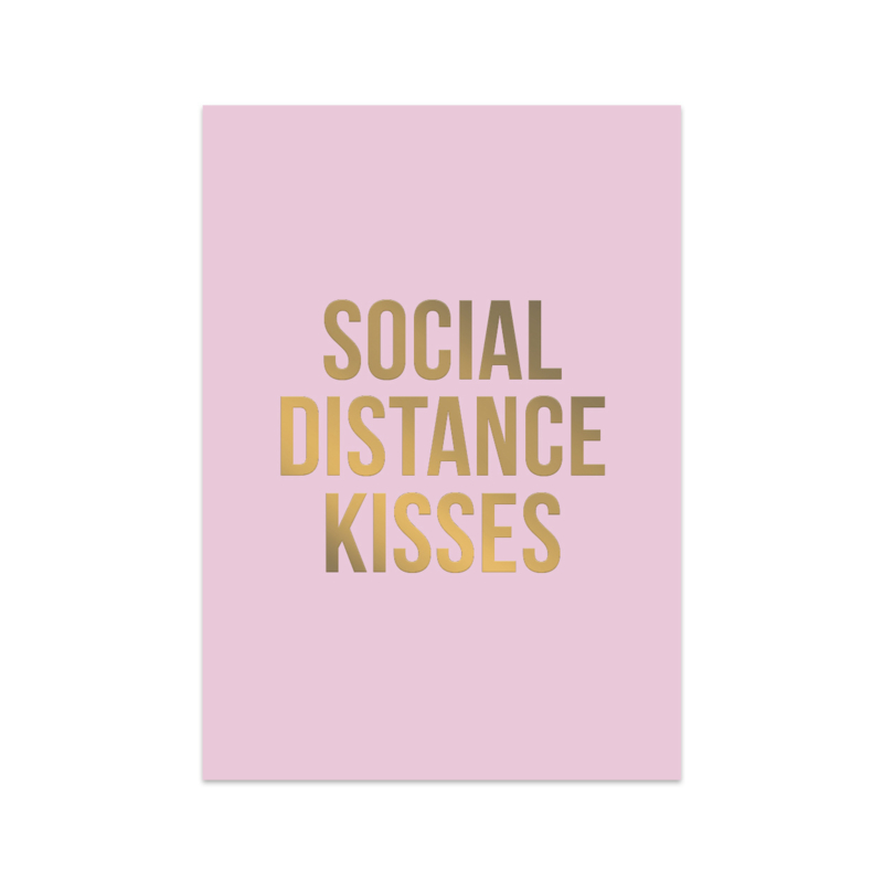 Kaart 'Social distance kisses'