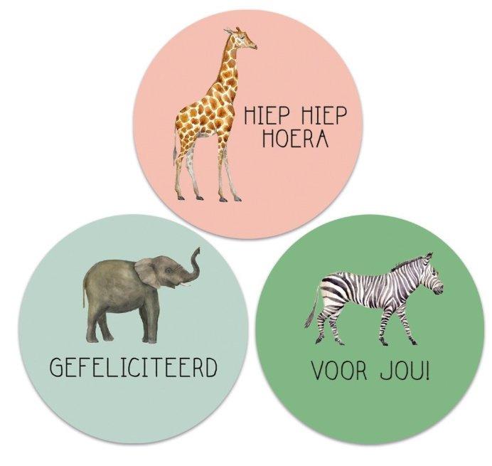 Sticker set '3 Jungle teksten'