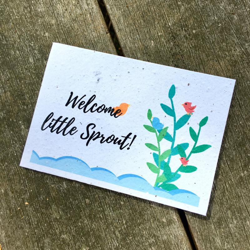 Kaart 'Welcome little sprout!'