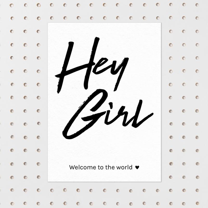 Kaart 'Hey Girl'