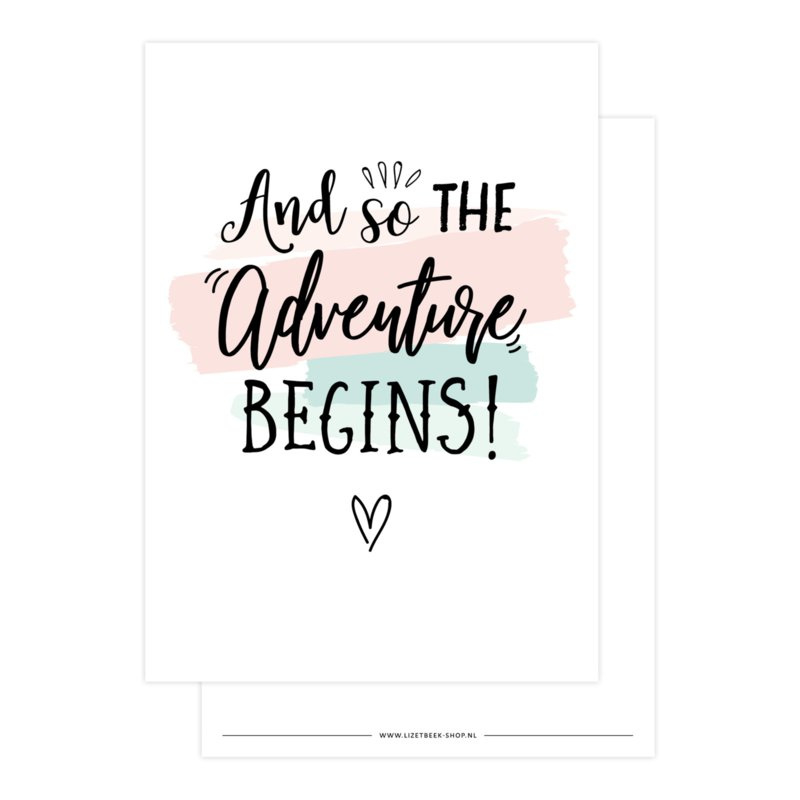 Kaart 'And so the adventure begins!'