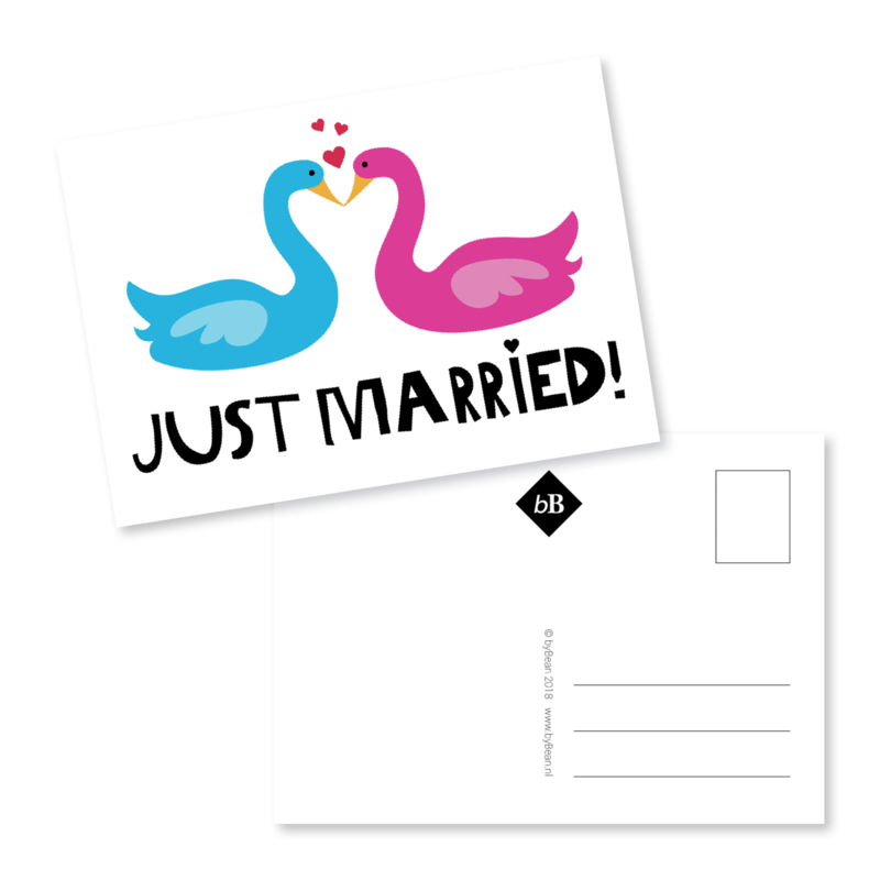 Kaart 'Just married!'